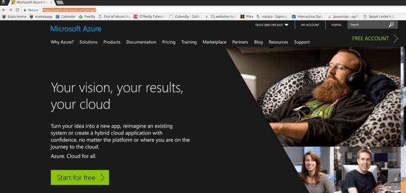 Hosting RStudio Server on Azure
